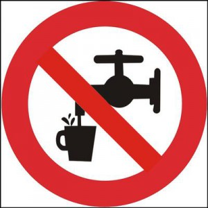 Zákaz používání pitné vody