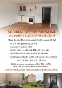 Sociální byty k pronájmu