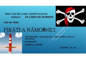 Ples na téma piráti a námořníci